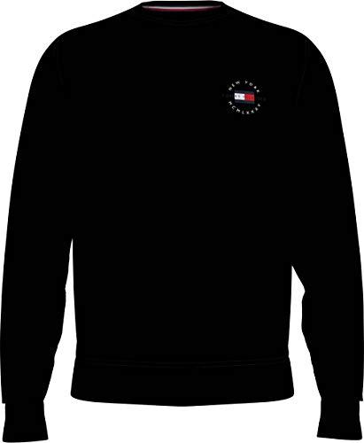 Tommy Hilfiger Herren Circle Chest Corp Crewneck Pullover, Schwarz, X-Large