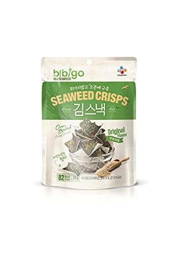 BIBIGO - Chips de Alga Original, Snack de Arroz con Lámina de Alga, Aperitivo Oriental, Crujiente y Saludable - 20g