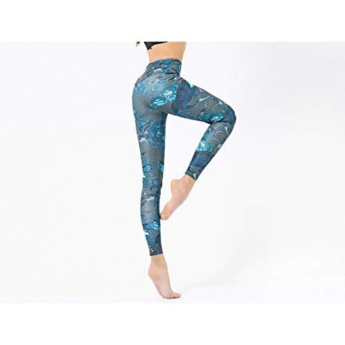 Mesyr leggings, bedrukt, hoge elasticiteit, vogel, sportbroek voor yoga, met rode kroon S 4 X 100 M