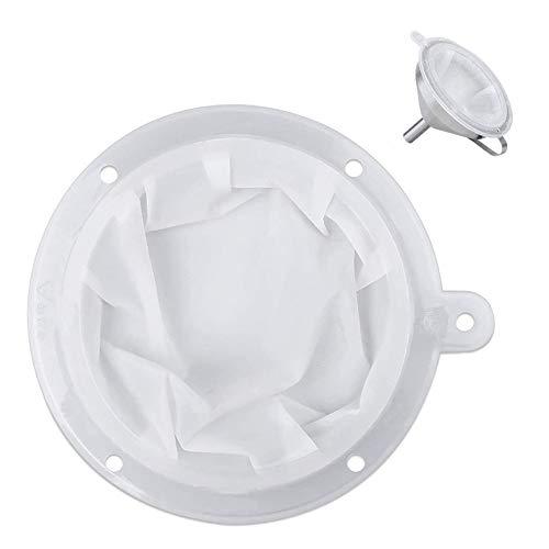 Lebensmittelfiltersieb, 400-Mesh-Filtersieb für 5-Zoll-Küchentrichter zur Übertragung von Flüssigkeit, Öl, Kaffee, Wein, Saft, Marmelade