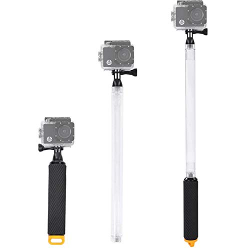 DAUERHAFT Apertura de Selfie Stick Bottom, para GoPro SJCAM(Yellow)