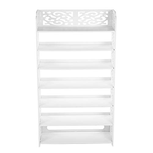 Ausla Shoe Rack, Shoe Organizer Shoe Cabinet Shoes Storage Shoes Stand Tall 110cm White for Entryway for Hallway