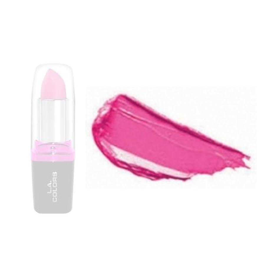 平手打ち味戸口(3 Pack) LA Colors Hydrating Lipstick - Bold Pink (並行輸入品)