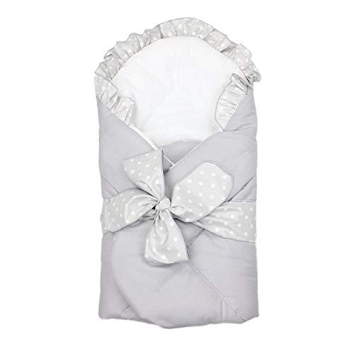 TupTam Arrullo Mantita Envolvente para Bebé con un Lazo, Gris, 70 x 70 cm