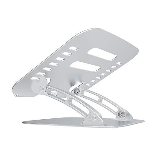 TISHITA Soporte para portátil, Soporte para Ordenador portátil de Altura Ajustable de aleación de Aluminio, Soporte Plegable para Escritorio, Soporte