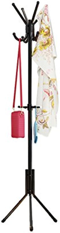 Fashion Clothes Hanger Coat Hanger Floor Simple Hanger Easy to Install Coat Rack Black Durable