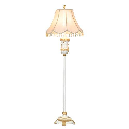CLJ-LJ Lámpara de pie de resina retro, lámpara de pie para interiores, estilo antiguo, adecuada para salón, dormitorio, interruptor de pie