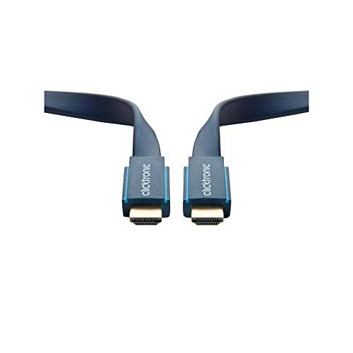 Clicktronic Casual High Speed HDMI Flachkabel mit Ethernet,4K Ultra HD, 3D-TV, ARC, 3.0 m