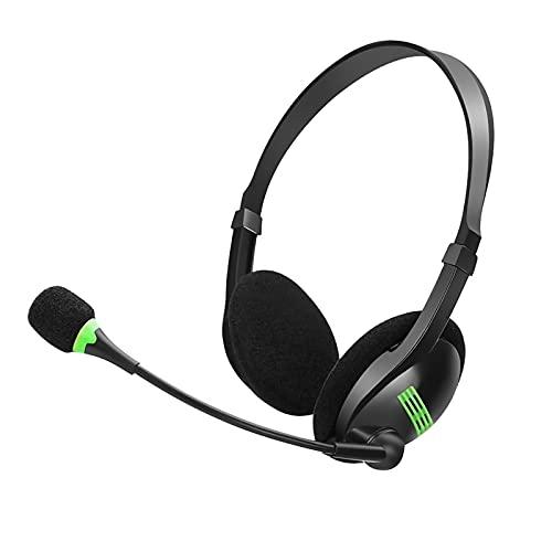 Cuffie con Microfono, Afaneep Cuffie per PC Cancellazione del Rumore per Call Center Pieghevole Cuffie per Skype Chat Conference Call Ufficio