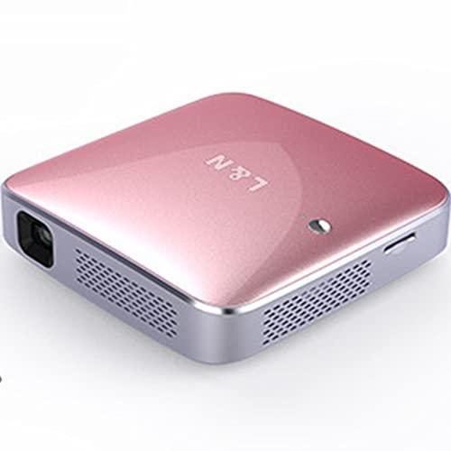 QHXM Mini Projector Full HD 1080p 120 Pulgadas Pantalla Adecuada para el Proyector Película Portátil de la Escuela de Lectura de Oficina Inicio con 3,000 Horas LED Bombilla LIFE300G96.5x96.5x26.3mm