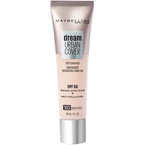 Maybelline New York - Perfecteur de Teint - Protection Anti-UV & Anti-Pollution - Dream Urban Cover - Teinte : Ivoire Rosé (103) - 30 ml
