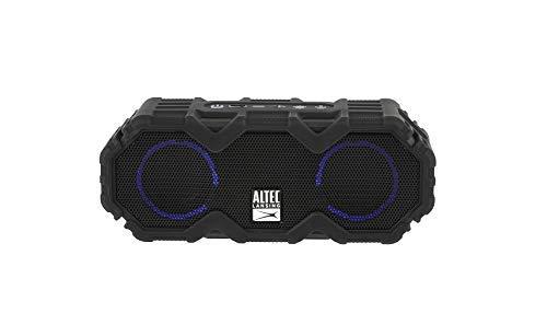 Altec Lansing IMW479-BLKC Mini LifeJacket Jolt Portable Bluetooth Speaker with Lights, Black
