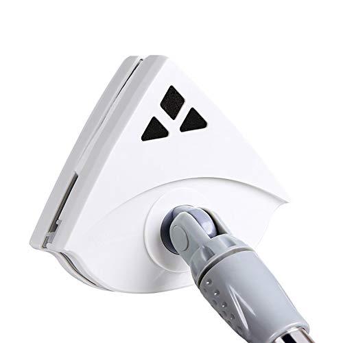 NZHK Seccatoio, Doppio Lato Magnetico Cleaner Tergicristallo Lavavetri Magnetico di Vetro di Pulizia della Spazzola per Doppi Vetri Finestra Spessore (5-36 Millimetri),Bianca