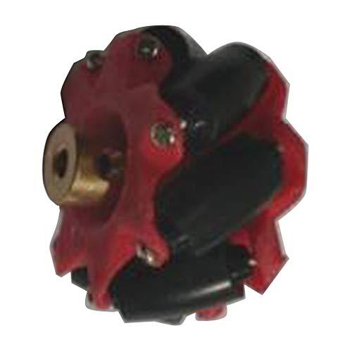 Shiwaki Universalrad Omnidirektional Rad Antriebsrad Roboter Rad mit Kupplung - Rot