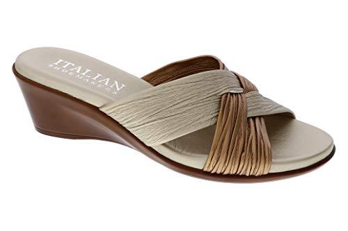 ITALIAN Shoemakers Womens Saylor Wedge Sandal (8 M US, Metallic Multi)
