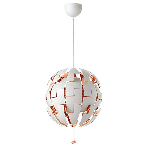 IKEA Pendant lamp, White, Copper Color