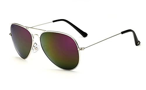 MINGQIMY Gafas de Sol Veithdia Classic Fashion Polarized Hombres/Mujeres Gafas de Sol Revestimiento Reflectante Accesorios para Gafas de Gafas para Hombres/Mujeres (Lenses Color : Silver Purple)