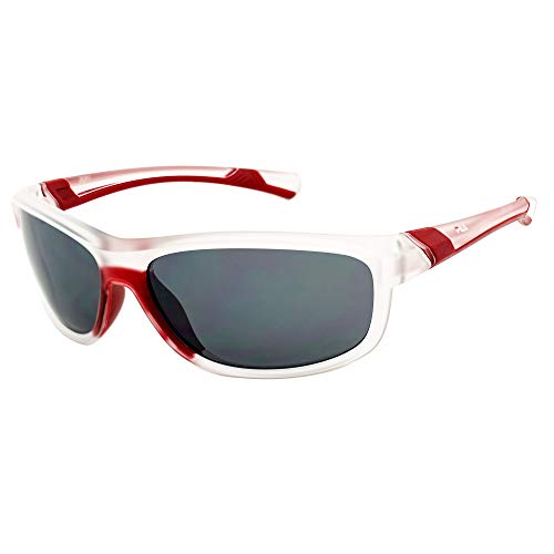 Fila SF-231-NAT Gafas, MATT CRYSTAL-RED/GREY-MIRROR SIVLER, 69/16/130 Unisex Adulto