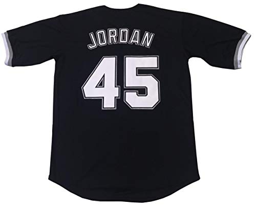 LTD Jordan #45 Barons Baseball Men Jersey Stitched (Black, Large)