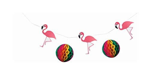 Ghirlanda a nido d'ape 'Flamingo' / ca. 4 m