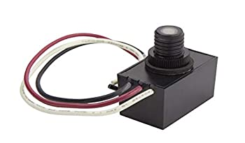 Solus SPC-688 120V Automatic Dusk to Dawn Photocell Photo Control Light Sensor Switch for Hardwire Outdoor Lamp Posts Works with Most Fixtures and Bulbs Black