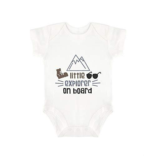 Promini Lindo bebé mono pequeño explorador a bordo bebé mono de una pieza bebé mameluco mejor regalo para bebé