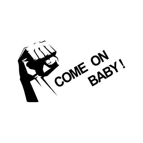 Axlgw Kom Op Baby Muursticker Motivationele Citaten Kantoordecoratie Vinyl Muursticker Woondecoratie Accessoires voor Tienerkamer Grootte 57X32Cm