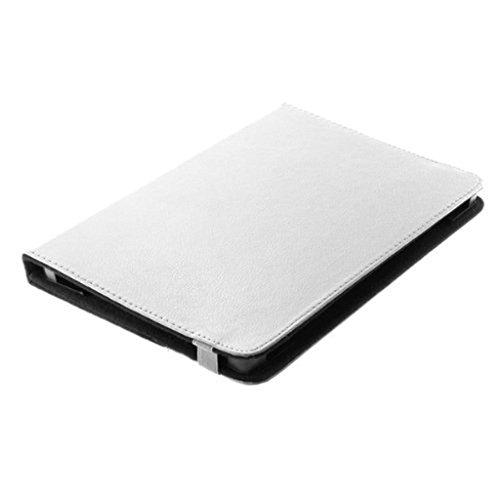 BookStyle Étui de tablette PC étui Book Case Blanc avec fonction support pratique Convient pour Trekstor SurfTab Twin 10.1 – Etui Cover