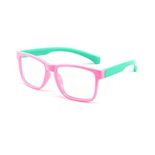Anti blaulicht brille - TR + Silikon - Professionel Kinder Brillen Clear Lens Retro Reading Eyewear für Mädchen Jungen