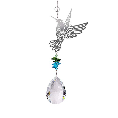 FISEYU Pendant Sparkling No Cracking Faux Crystal Drop Shape Hangings for Gift Wall Door DIY Pendant 8