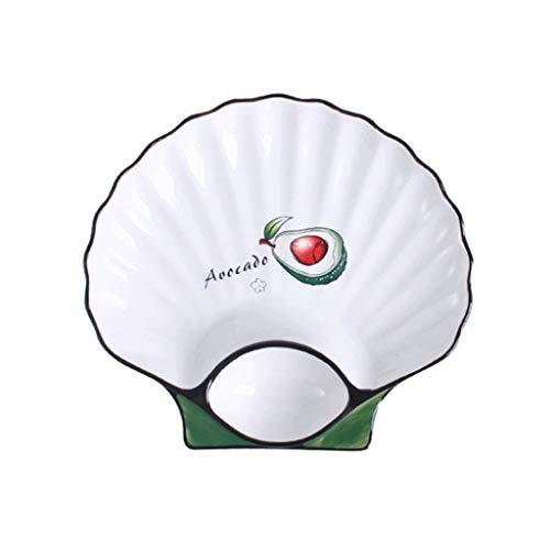 Aiglen Plato de bola de masa de cerámica para tartas con vinagre japonés, plato de sushi, vajilla creativa y linda (color: D)