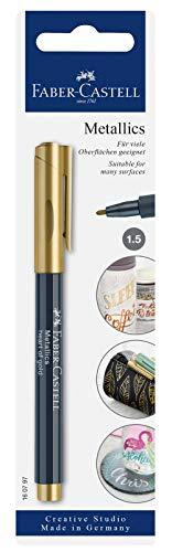 Faber-Castell - Rotulador metálico, color dorado