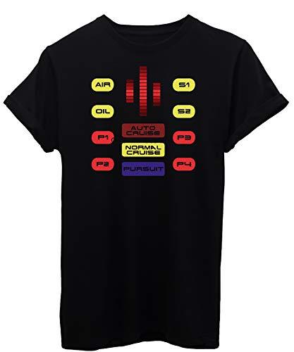 iMage T-Shirt Supercar Kitt Cruscotto - Serie TV - Bambino-M-Nera