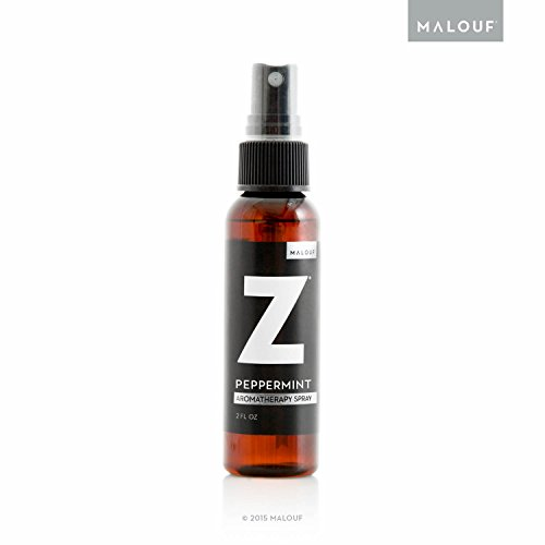 MALOUF ZZ33PMAS All Natural Z Aromatherapy Bedding Spritzer Made with Real Peppermint Oil-2 Ounce Spray Bottle