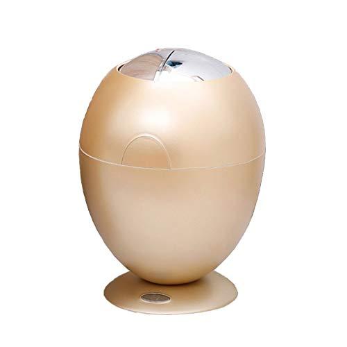 NYKK Papeleras Automático del Sensor de Movimiento Bote de Basura, Basura sin Contacto de los Huevos de Oro Can, Cocina Bote de Basura de baño Dormitorio Ministerio del Interior, 6L (Redondo)