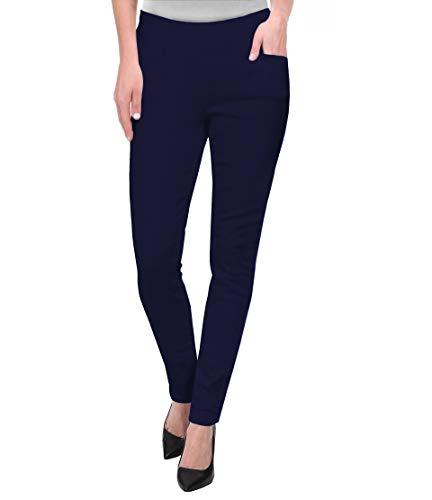 Hybrid & Company Womens Super Comfy Millenium Twill Pants KP47812 Navy L