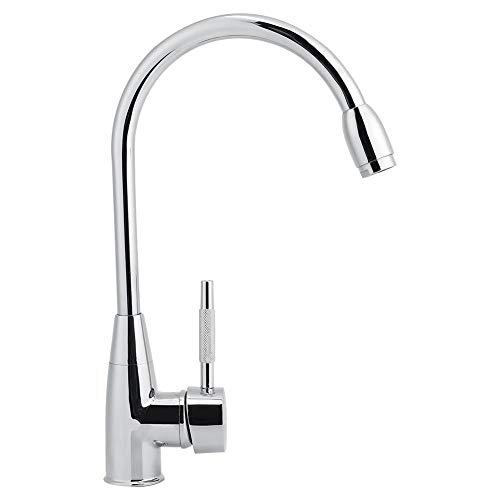 Grifo de cocina, moderno y elegante grifo de cocina con una sola mano, 360 °, agua caliente fría, accesorio para el hogar con fijaciones