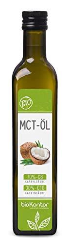 MCT Öl aus 100% Bio-Kokosöl | Premium Qualität | 70% Caprylsäure C8 und 30% Caprinsäure C10 | rein mechanisch hergestellt - bioKontor - 500ml