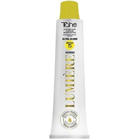 Tahe Lumière ExpressTinte de Pelo Profesional Coloración de Cabello Permanente Tinte Tono100.01 Rubio Platino Natural Ceniza, 100 ml