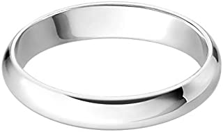Sterling Silver Wedding Band Comfort Fit Ring