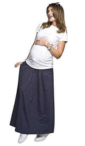Torelle Umstandsrock, Schwangerschaftsrock Madi, Rock für Schwangere, hochwertige Baumwolle! Dunkelblau M