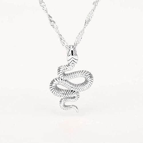 SSFG Collares de Serpiente para Mujeres y Hombres, Collar de Cadena de Oro de Acero Inoxidable, Colgante de Serpiente, Regalo de joyería de Animales