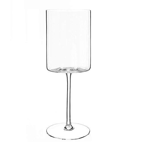 BOLLAER copa recta, soplado a mano copas de vino, 100% libre de plomo Premium cristal - regalo para boda, aniversario, Navidad, transparente
