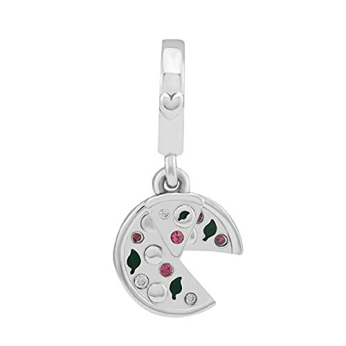 LILANG Pulsera de joyería Pandora 925, dijes de Pizza de pasión Natural, Cuentas de Plata esterlina Originales, fabricación de Regalos para Mujeres, Bricolaje