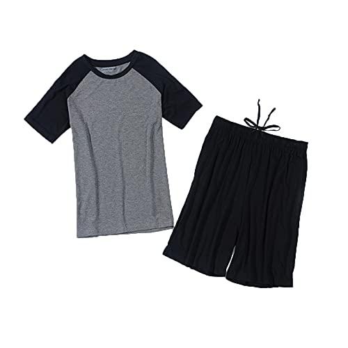Pijamas De Primavera Y OtoñO para Hombres, Pantalones Cortos De Manga Corta, Trajes De Servicio A Domicilio, Pijamas Deportivos Informales, Fresco