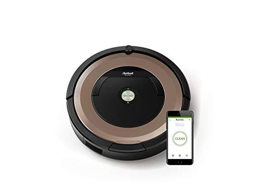 iRobot Roomba 895 Saugroboter mit leistungsstarker Saugeinheit, zwei Multibodenbürsten, WLAN, Optimal für Teppiche, Hartböden, Tierhaare, 3-stufiges Reinigungssystem, Reinigungsprogrammierung per App
