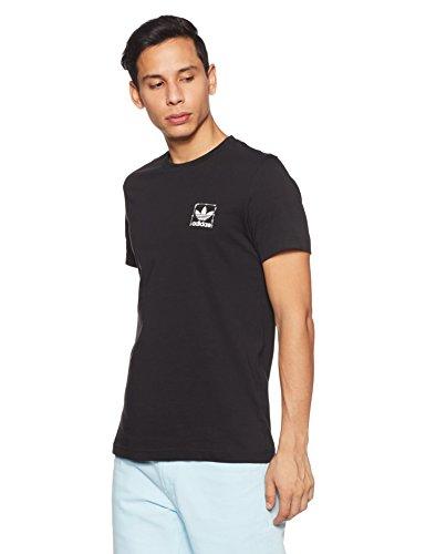 adidas Originals Stand Camiseta, Hombre, Negro, S