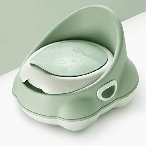 Green Toddler First Potty WC Comfort Siège de propreté pour siège de Formation pour Enfants 2 en 1 WC de Dressage pour Enfants, antidérapant, Facile à Nettoyer