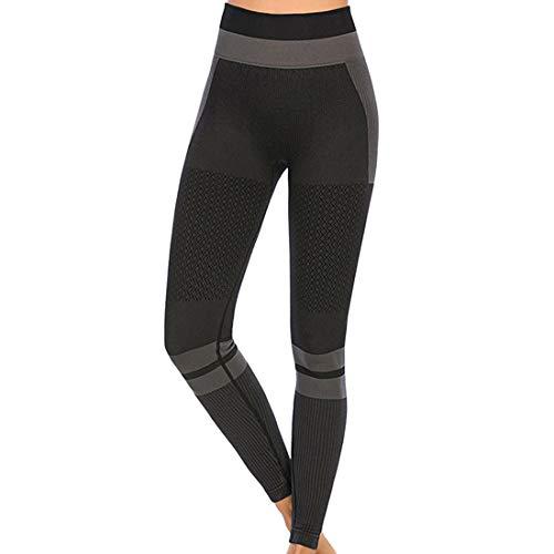 Yoga Hosen Damen Sports Leggings Gym Stretch Hohe Taille Leggins Blickdicht Sporthose Anti-Cellulite Anti Rutsch Fitnesshose Laufhose Tights Yogahose für Sport Fitness...