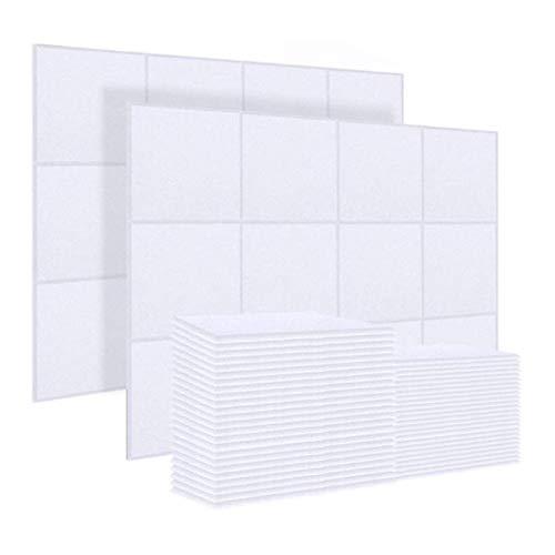 HHOSBFSS 20 PCS Paneles De Aislamiento De Sonido, Azulejos De Aislamiento De Sonido 30x30x0.9cm Azulejos Biselados para El Tratamiento De Aislamiento Acústico, Ideal para Cabinas Vocales